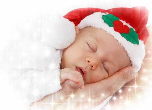 Mini bebe noel fille garcon enfant pere noel dormir 1560x1040